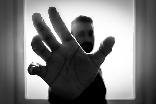 Man reaching for something