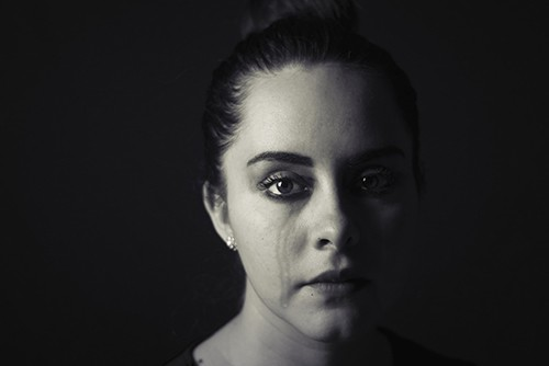 A crying woman