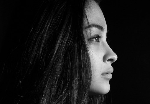 B/W profile picture of a girl