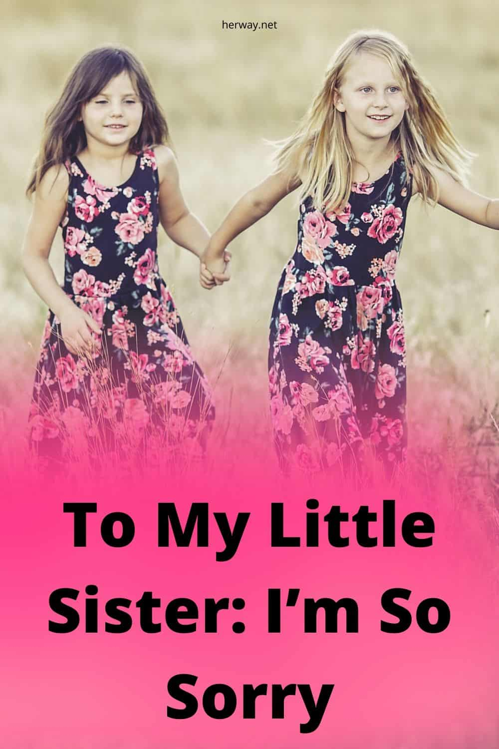 To My Little Sister: I'm So Sorry