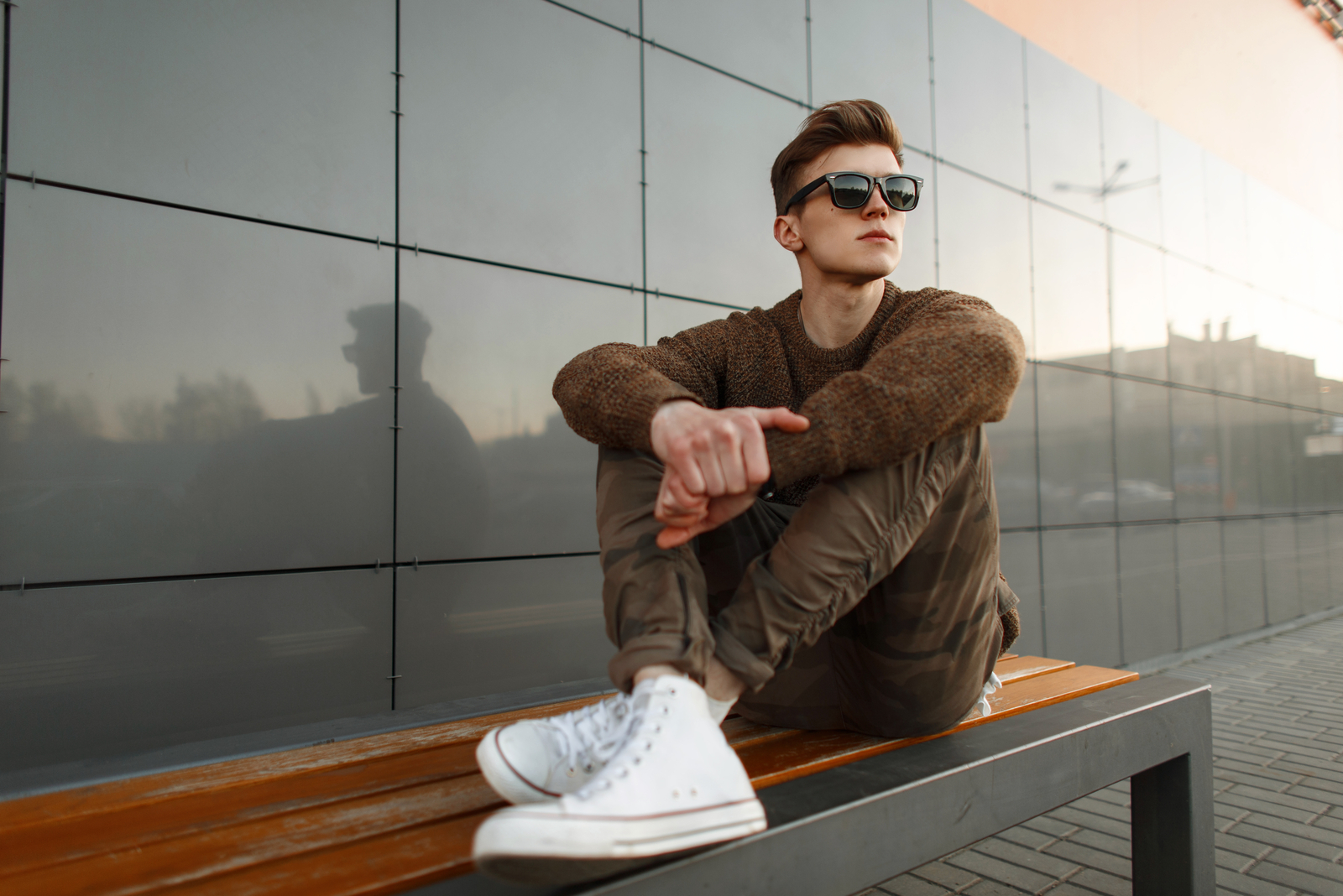 young guy wearing sunglasses