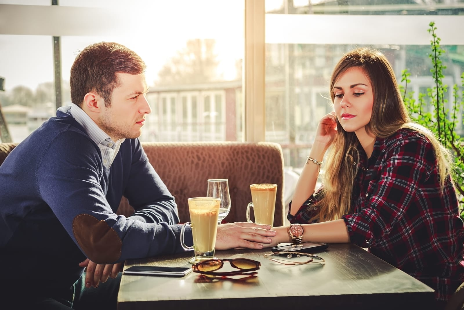 couple sitting by the table
