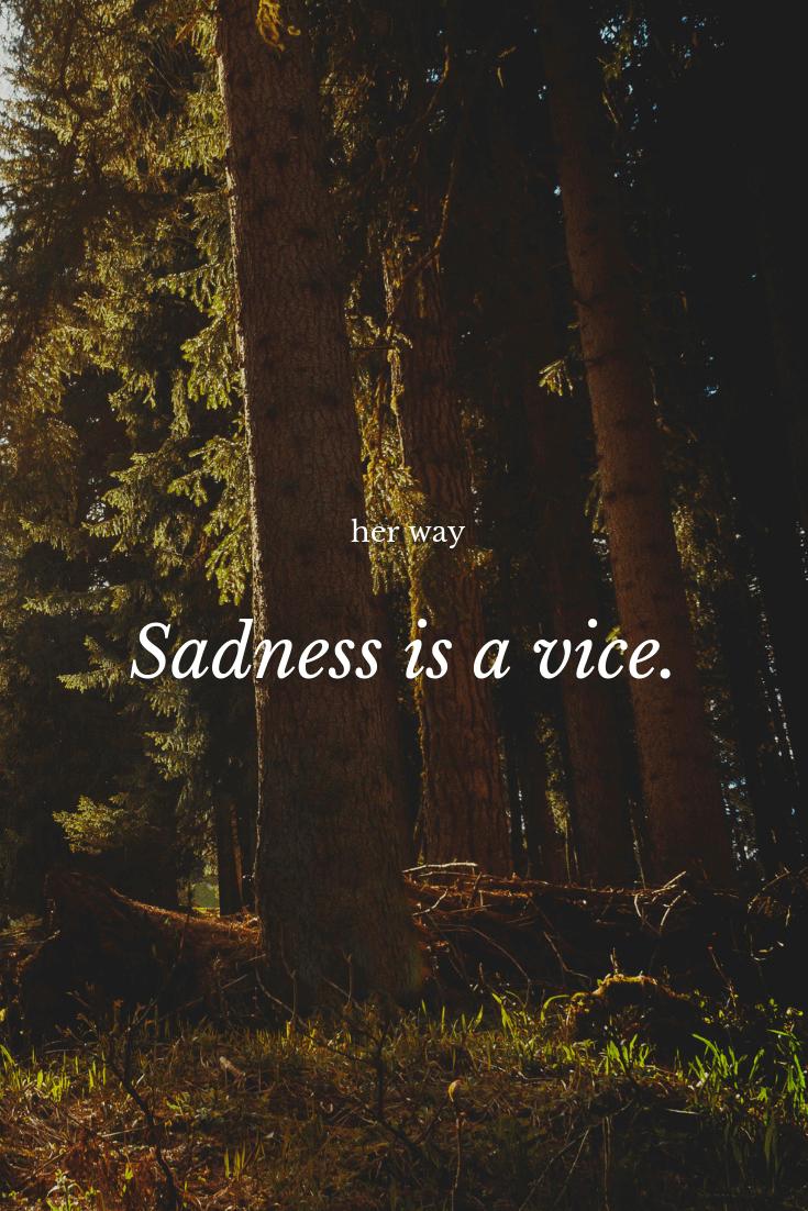 """Sadness is a vice."" ~ Gustave Flaubert"