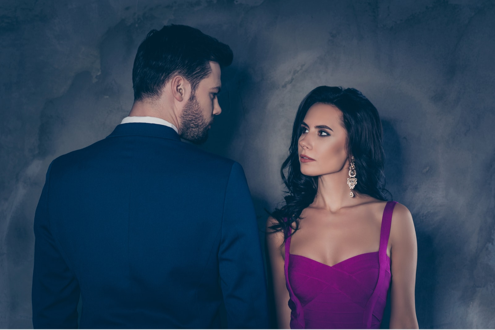 couple looking each other