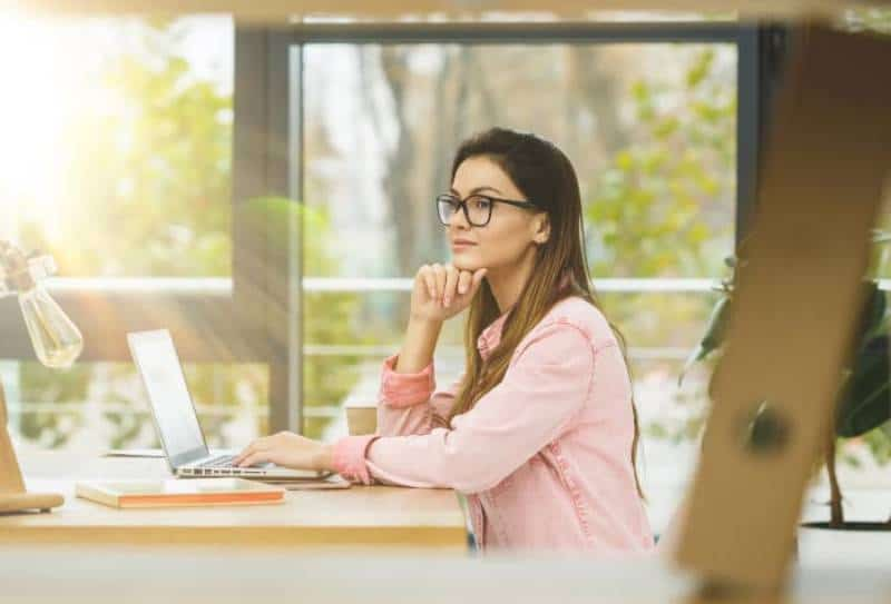 Portrait of a businesswoman sitting on her workplace