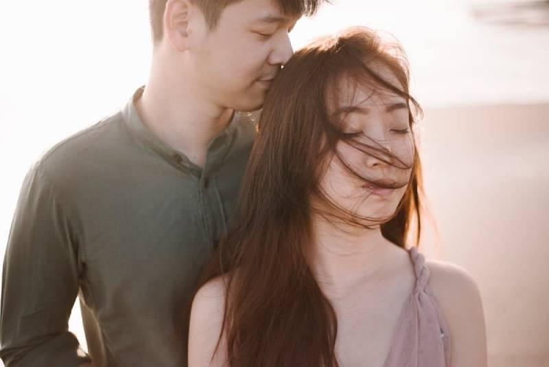 portrait of a romantic couple