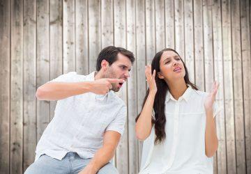 man yelling at woman outdoor