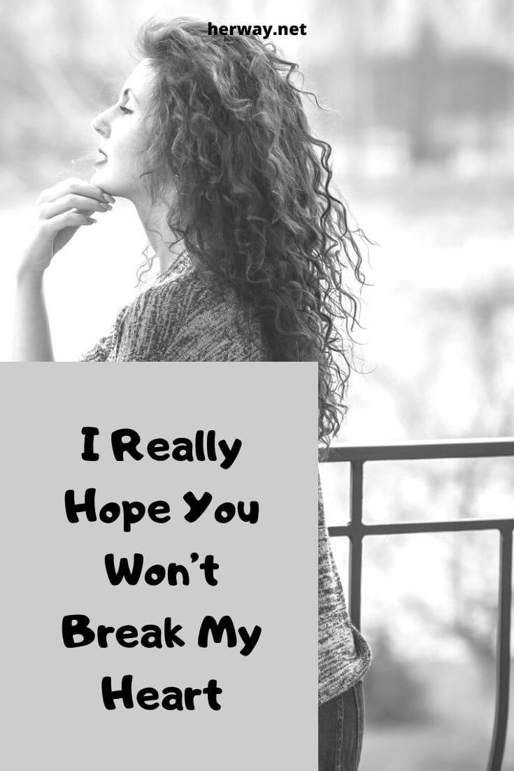 I Really Hope You Won't Break My Heart