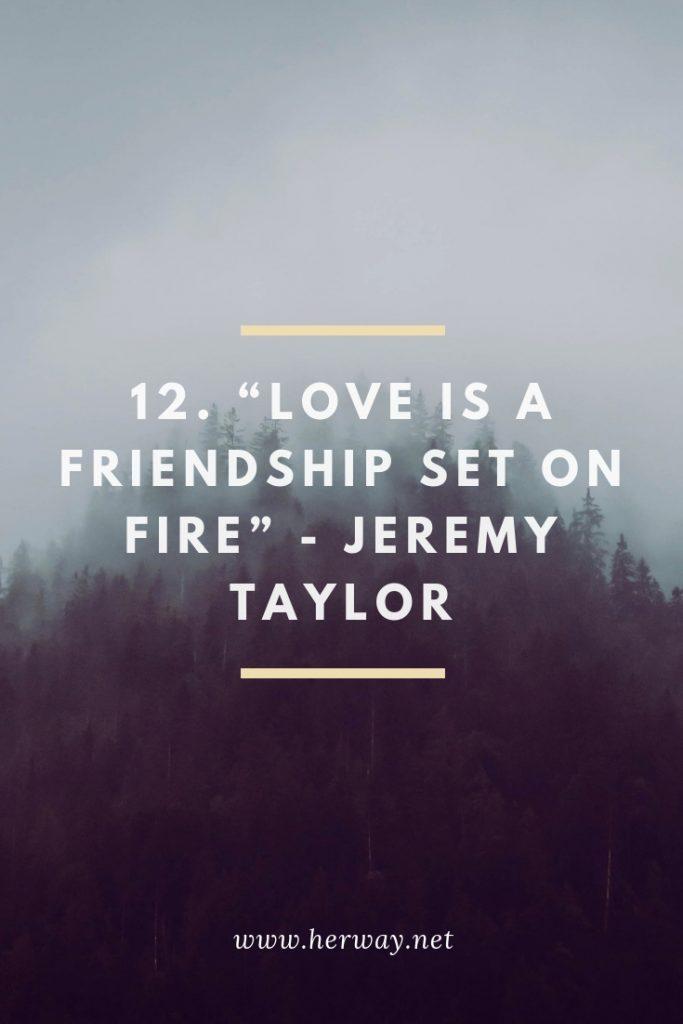 Love is a friendship set on fire - Jeremy Taylor