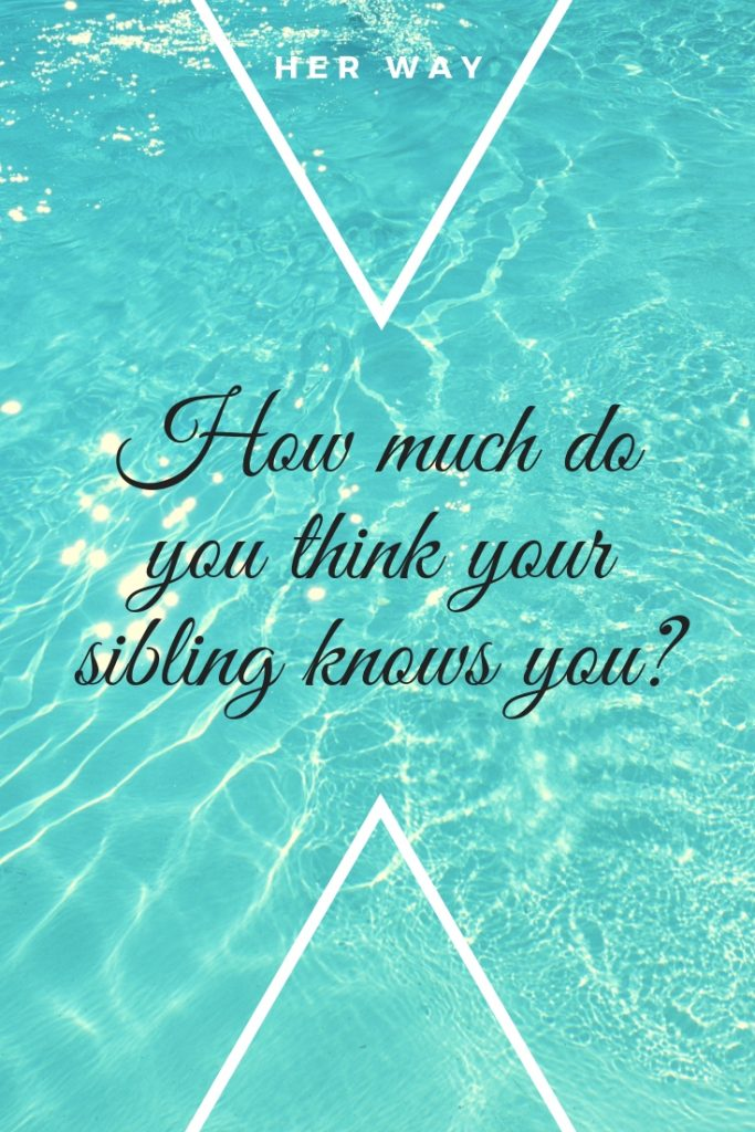 How much do you think your sibling knows you?