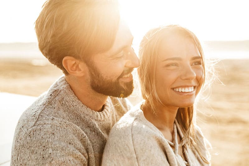 man in love looking at woman