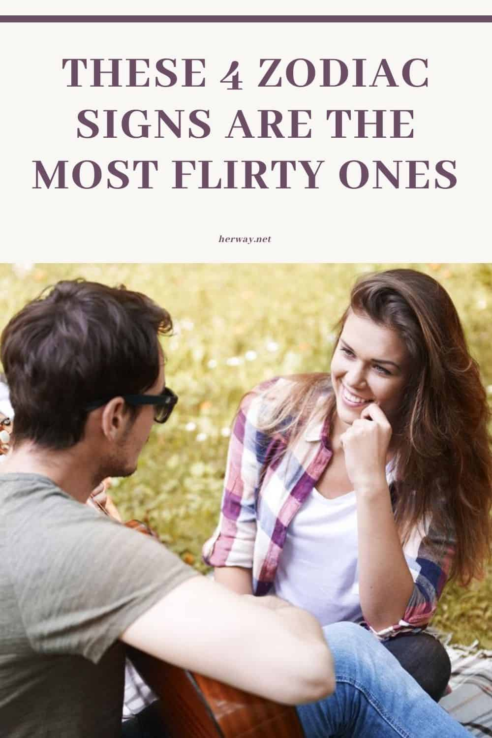 These 4 Zodiac Signs Are The Most Flirty Ones