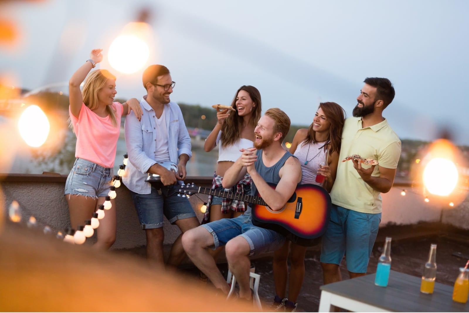 friends having fun outdoors