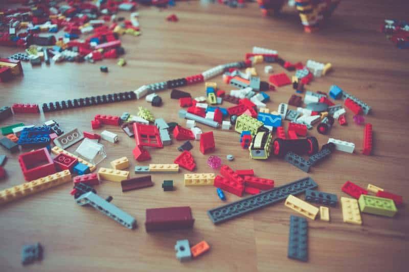 assorted-color interlocking blocks on floor