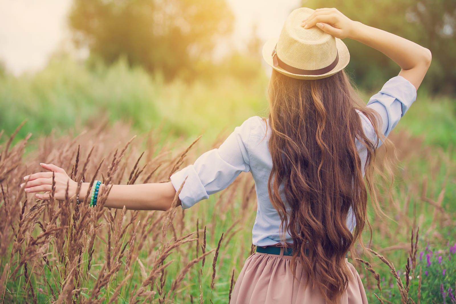 girl outdoors enjoying nature