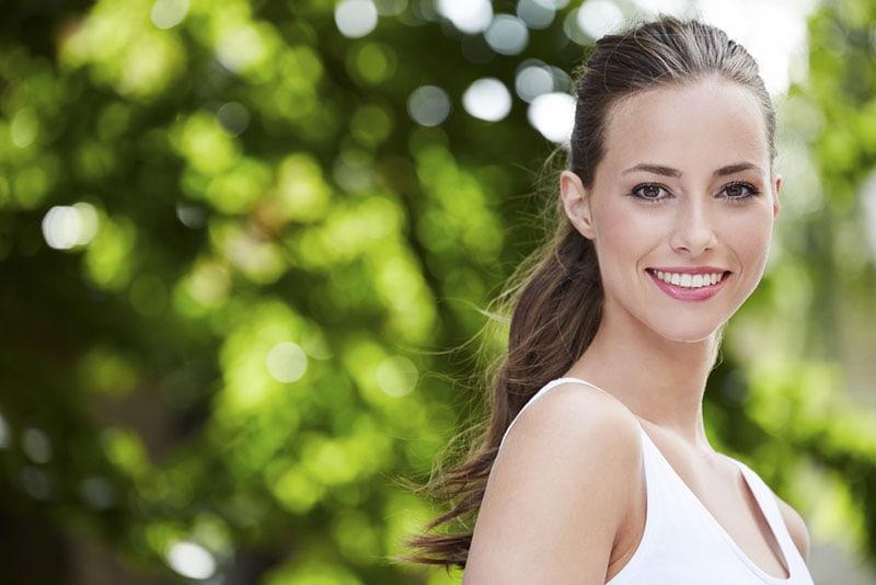 smiling young woman posing