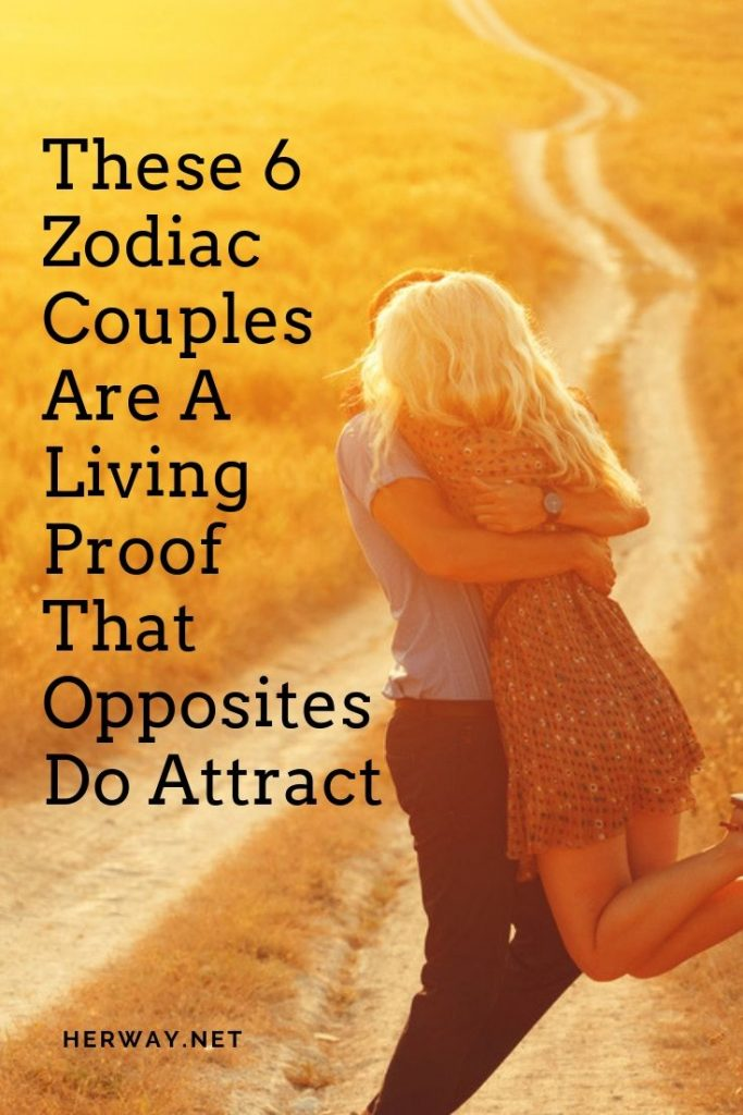 These 6 Zodiac Couples Are A Living Proof That Opposites Do Attract