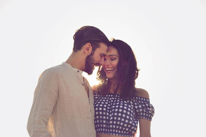 beautiful young couple in hug