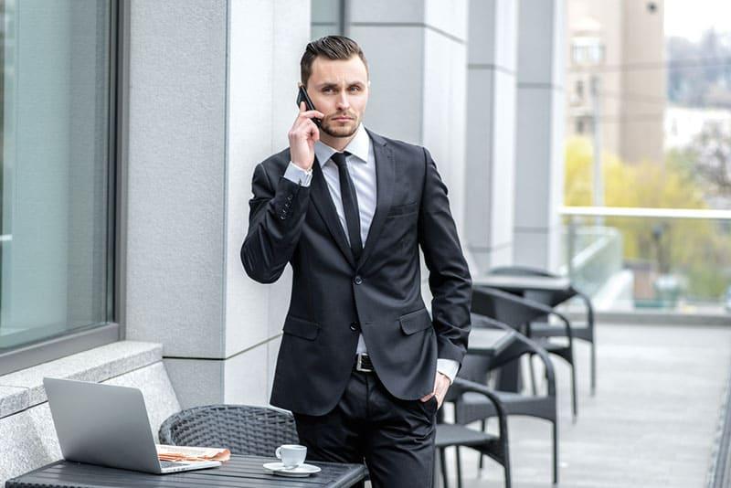 bussines man talking on phone