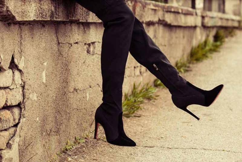 close up photo of woman wearing heels