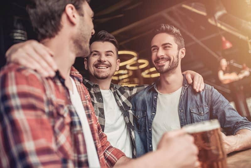 male friends in the bar