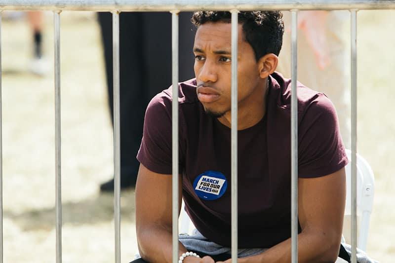 sad man in jail