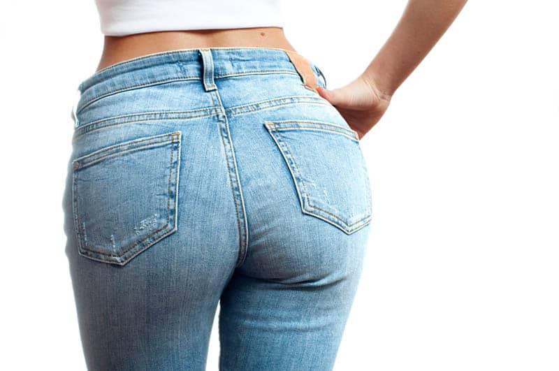 woman's butt in jeans