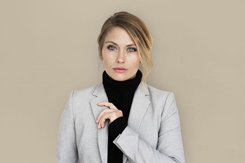 serious beautiful woman posing