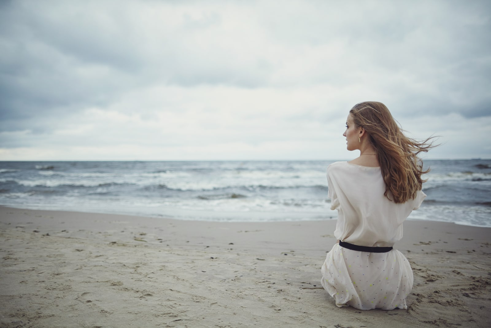 sensual girl on the beach
