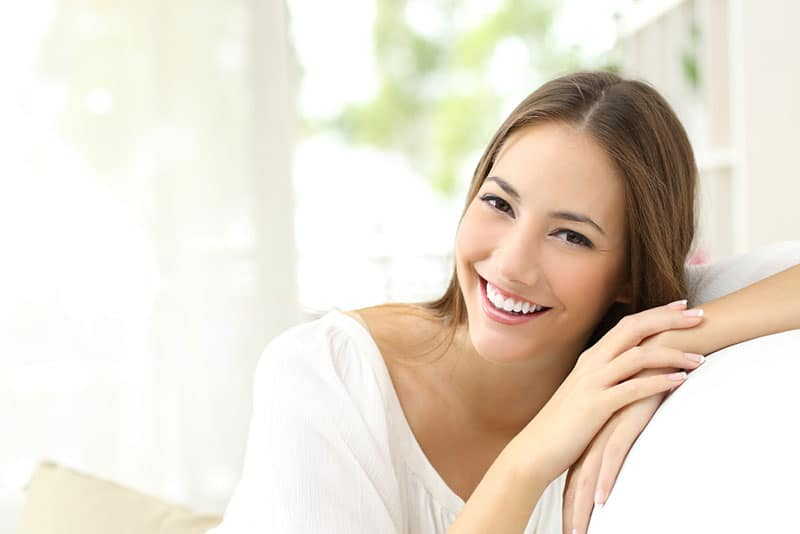 happy young woman posing