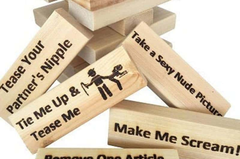 labeled jenga pieces