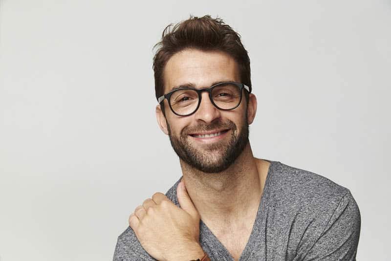 man smiling for camera