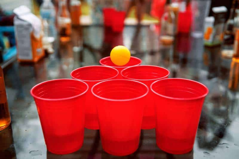 plastic glasses for beer pong
