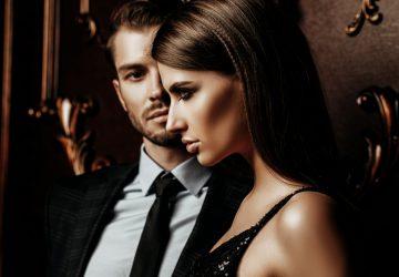 passionate elegant couple