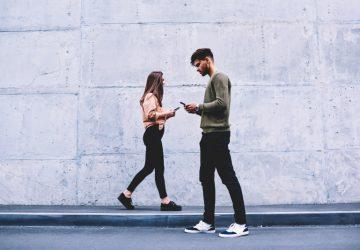 guy and girl walking