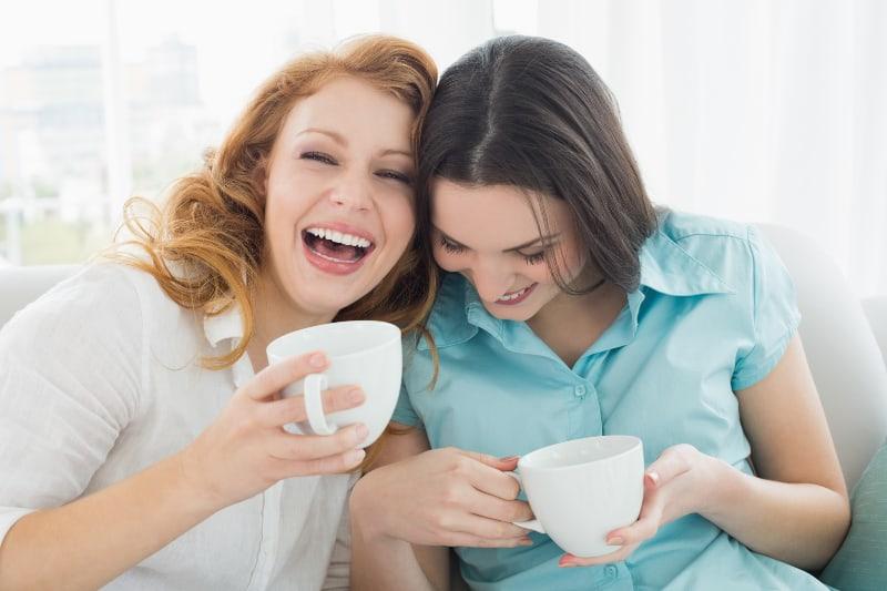 friends having tea time