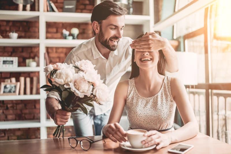 couple enjoying in restaurant
