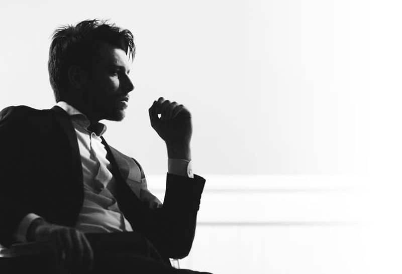 Handsome man silhouette