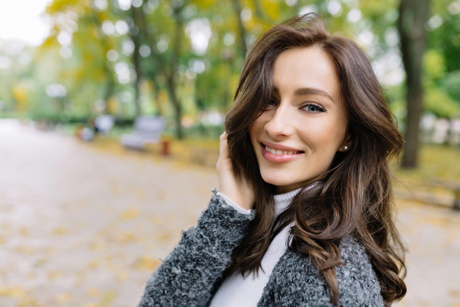 stunning woman posing