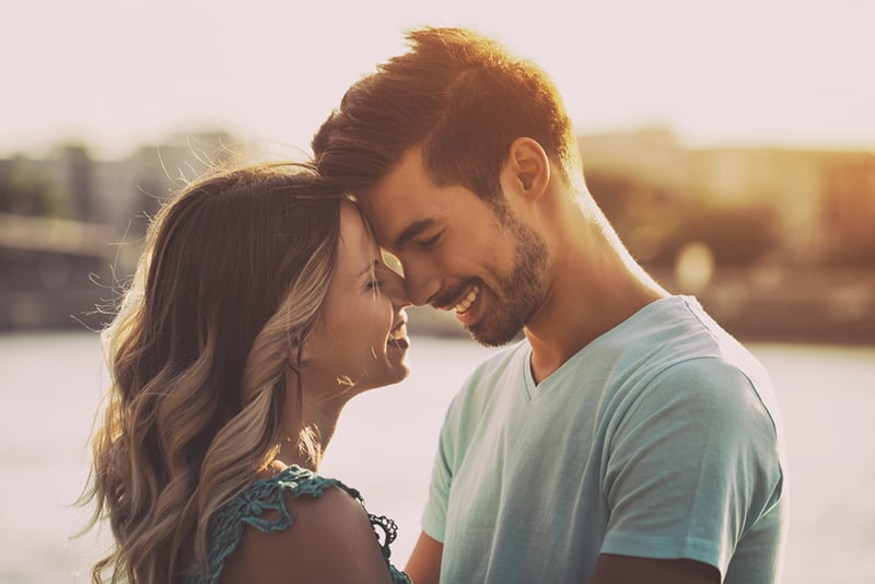 couple in love smiling