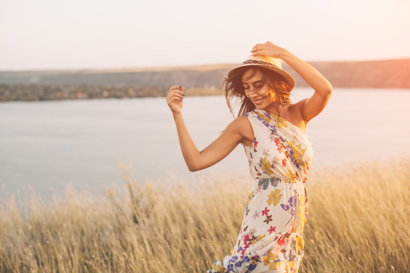 young girl outdoors enjoying nature