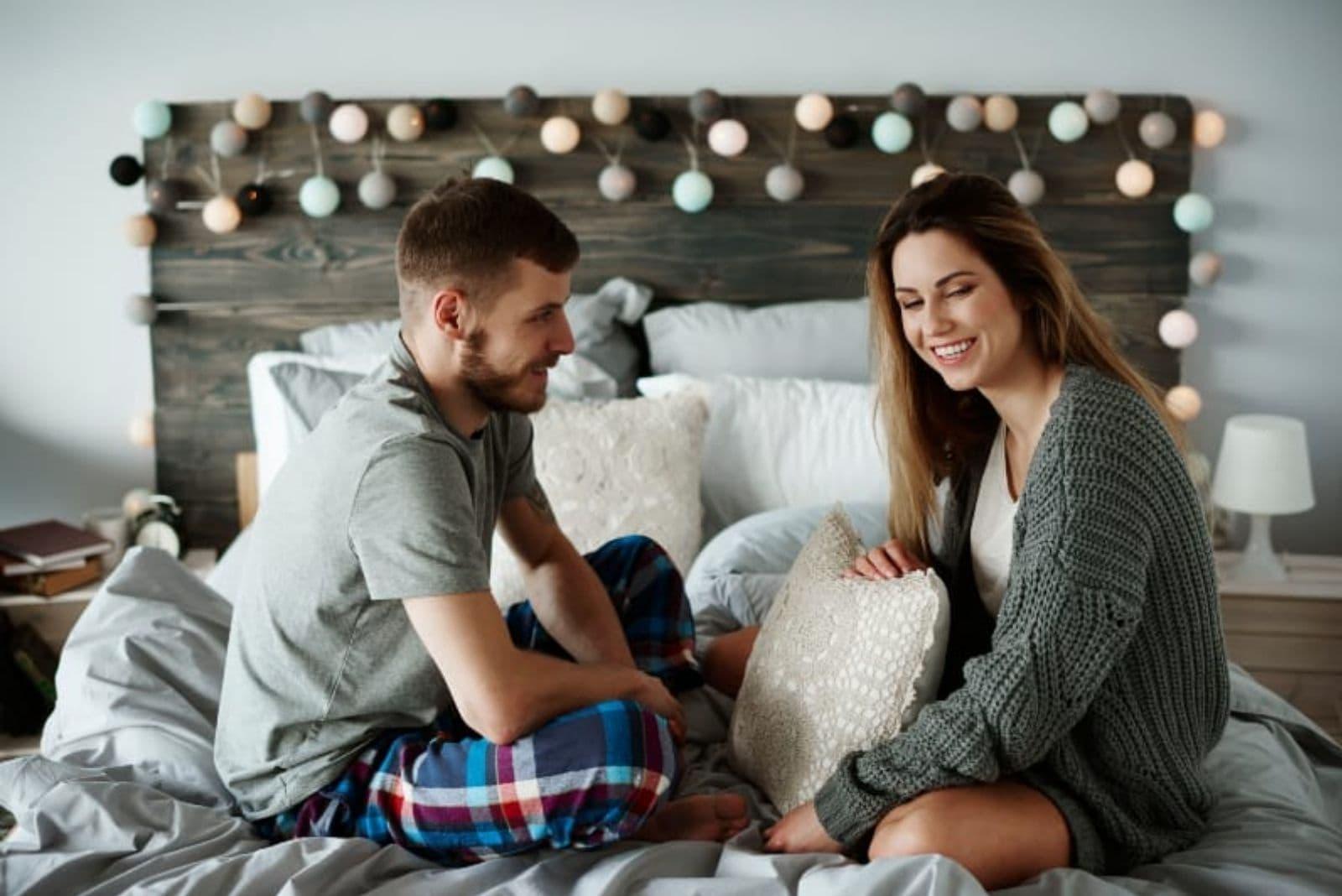 couple having fun in bedroom