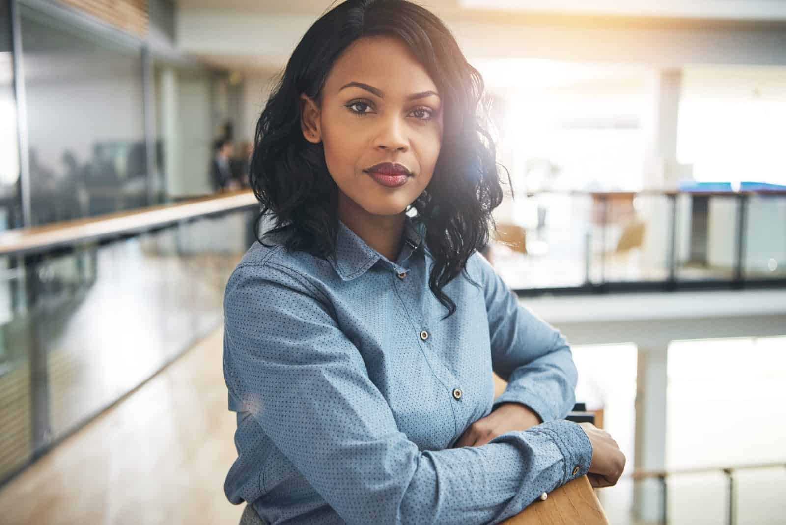 a portrait of an attractive determined black woman