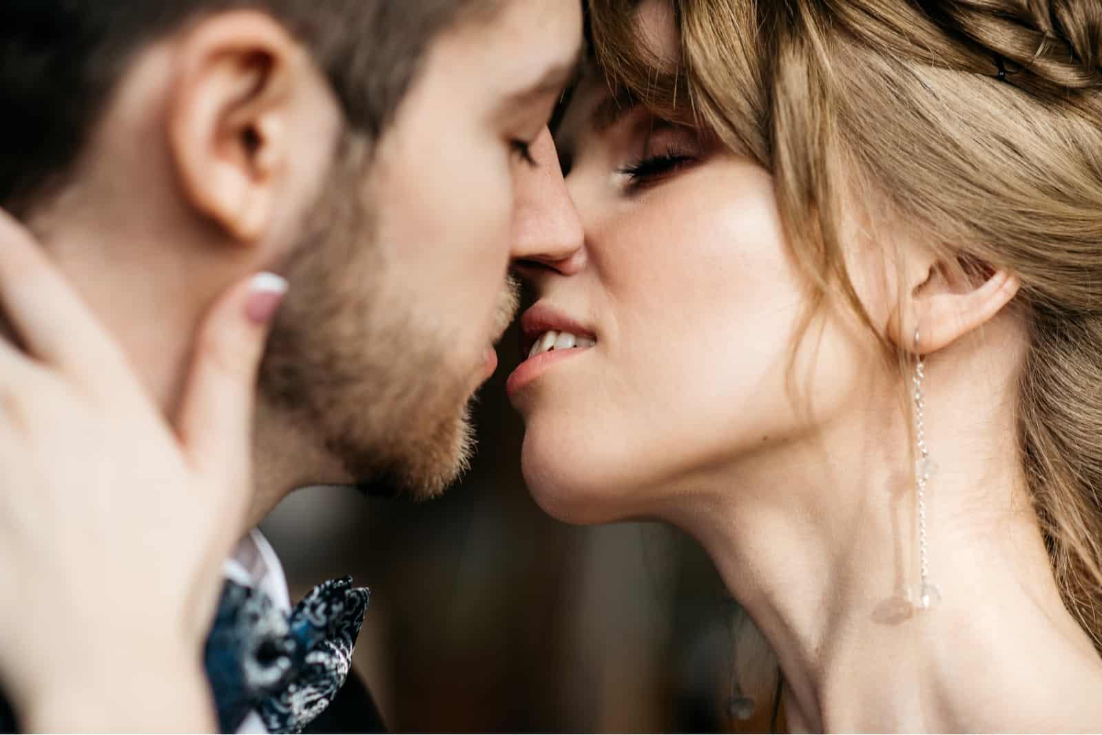 a woman loves a man