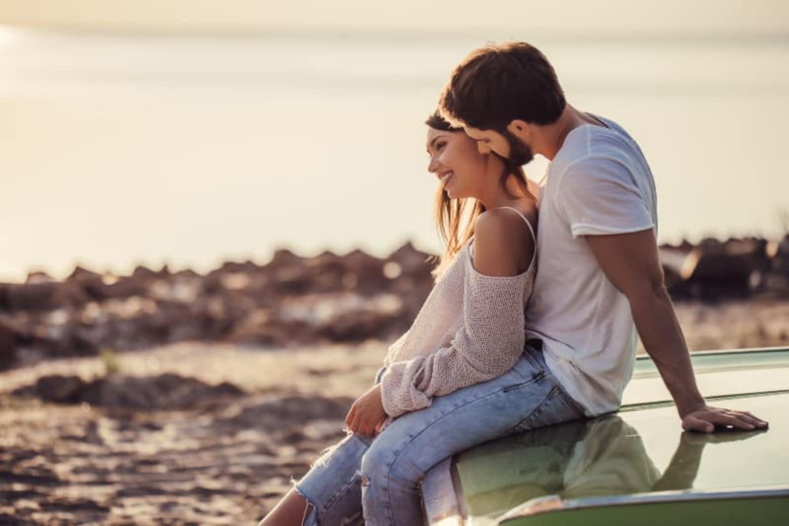 couple having romantic moments