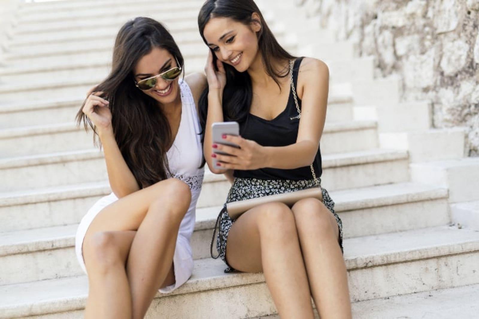 two friends taking a selfie