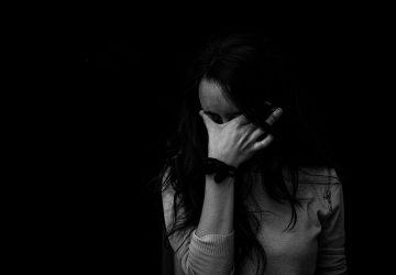 sad woman grieving