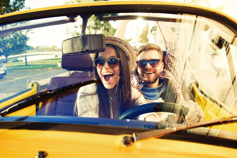 couple happy to travel together