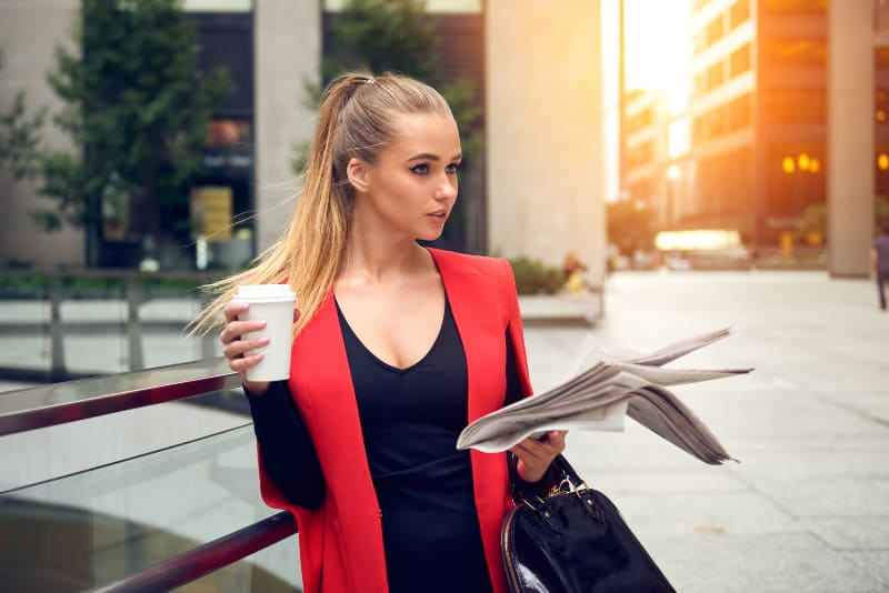 portrait of elegant business woman