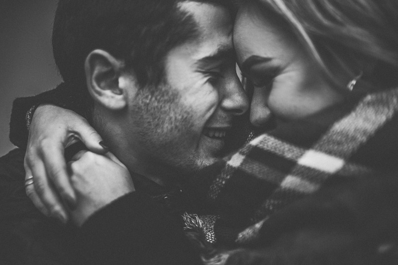 romantic black and white photo